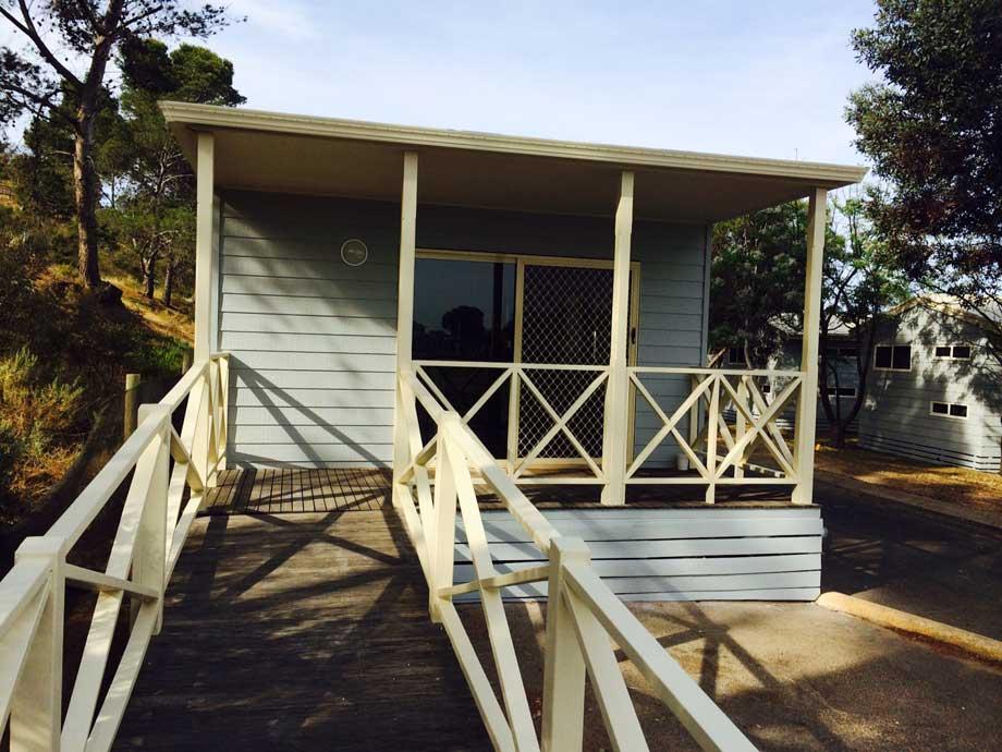 special access cabin hillside cabin