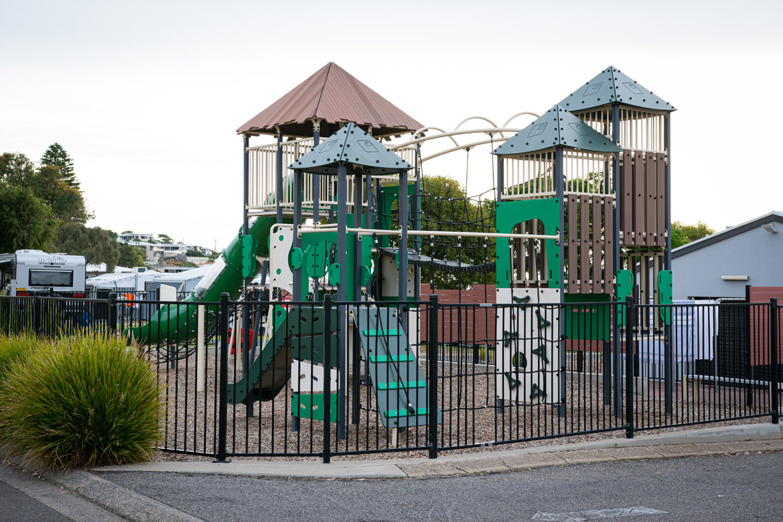 Kids love our large playground | Brighton Beachfront Holiday Park