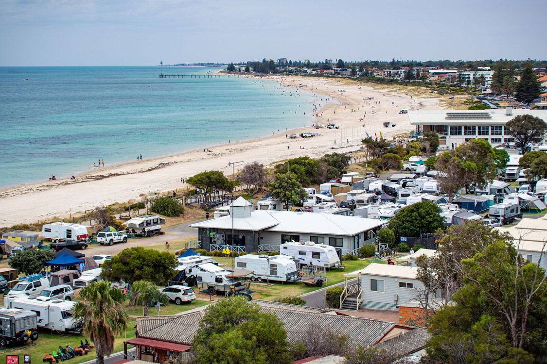 Beachfront Location | Brighton Beachfront Holiday Park