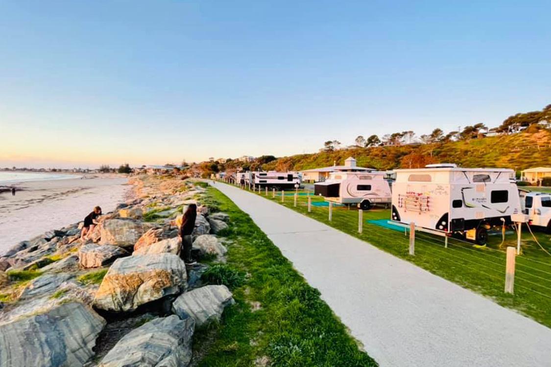 Beachfront Powered Sites | Brighton Beachfront Holiday Park